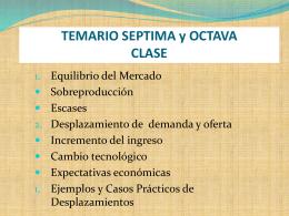 TEMARIO SEPTIMA y OCTAVA CLASE