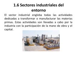1.6 Sectores industriales del entorno