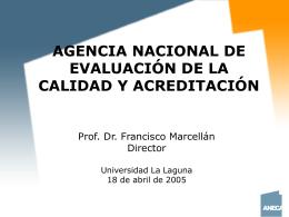 calidad en la educación superior - Unidad de Evaluación y Mejora