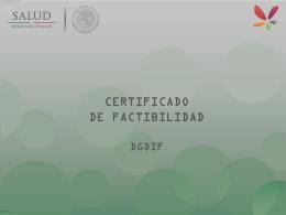 4. Certificado de Factibilidad