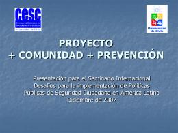 Descargar PPT - + Comunidad + Prevención