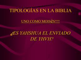 TIPOLOGIAS EN LA BIBLIA