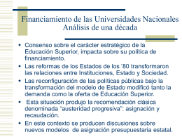 Financiamiento Universidades Nacionales