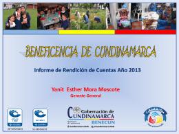 rendicion_de_cuentas_2013 - Beneficencia de Cundinamarca