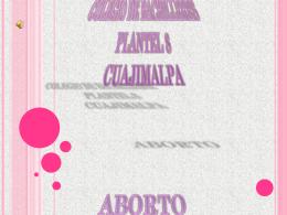 COLEGIO DE BACHILLERES PLANTEL 8 CUAJIMALPA ABORTO