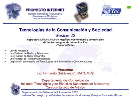 Sesión 22 - Fernando Gutiérrez :: Tecnología y Sociedad
