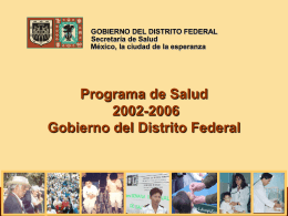 Programa de Salud Gobierno del Distrito Federal 2002-2006