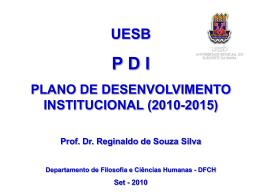 Apresentação sobre o PDI