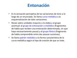 Entonación - komunikarse