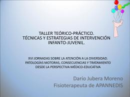 Darío Jubera Moreno Fisioterapeuta de APANNEDIS