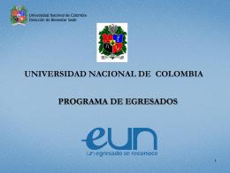 Diapositiva 1 - Egresados - Sede Bogotá