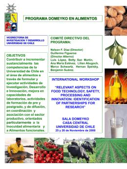 Presentación - Universidad de Chile