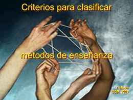 Criterios para clasificar métodos de enseñanza