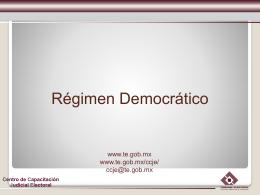 Regimen democratico - Tribunal Electoral del Estado de Nuevo