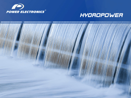HYDROPOWER - Power Electronics