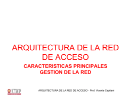 arquitectura de la red de acceso