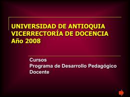 Programación de cursos - 2008