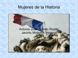 Mujeres de la Historia Antonio Juan Guindo Rosillo Jacinto Molinero