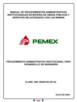 procedimiento administrativo institucional para desarrollo de
