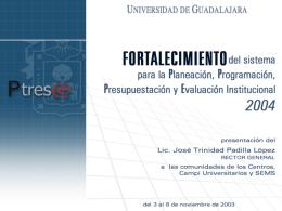 Fortalecimiento del P3E 2004