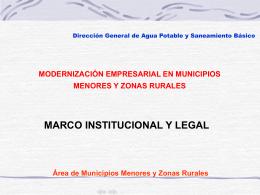 Aspectos Institucionales y Legales Ley 142