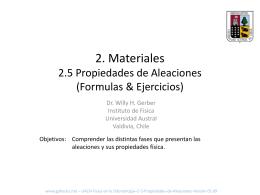 2. Materiales 2.5 Aleaciones