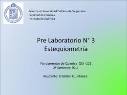 Pre lab Nr 3 Estequiometria