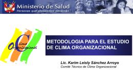 Metodología para el estudio de Clima Organizacional
