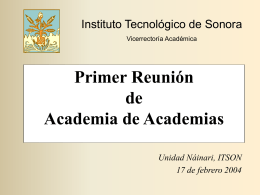 Presentación de PowerPoint - Instituto Tecnológico de Sonora