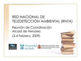 Presentación de la RNTA y agenda de la reunión.