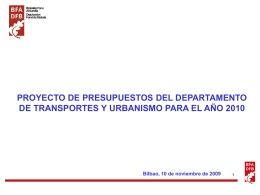 resumen Proyecto Presupuesto 2010 Trasnportes y Urbanismo (629
