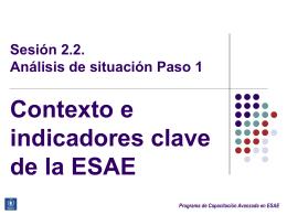 Paso 1: Contexto e indicadores clave de la ESAE