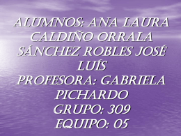 Alumnos: Ana Laura Caldiño Orrala Sánchez Robles José Luís