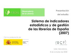 Presentación Indicadores CEGAL 2007