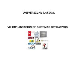 Implantación de sistemas operativos. - Docencia FCA-UNAM
