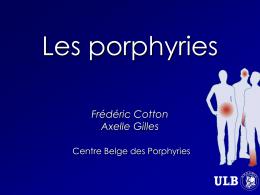 Les Porphyries - Les Jeudis de Fleurus