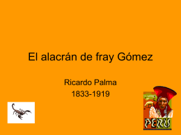AUTHORSTREAM EL ALACRAN FRAY GOMEZ