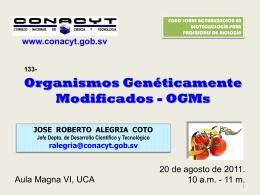 """""""Organismos Genéticamente Modificados"""" (OGMs)"""