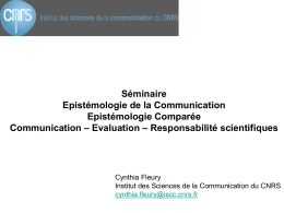 Epistémologie de la Communication