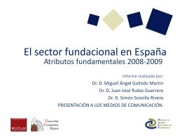 El sector fundacional en España