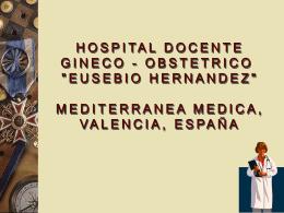 MEDITERRANIA MÉDICA, VALENCIA, ESPAÑA HOSPITAL