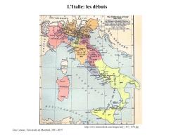 L`histoire de l`Italie - Département d`histoire