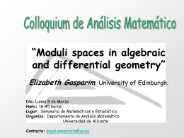 Moduli spaces in algebraic and differential geometry