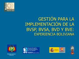 Presentacion BVS Sociedad Boliviana de Salud Publica