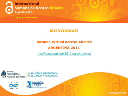 Jornada Virtual Acceso Abierto ARGENTINA 2011