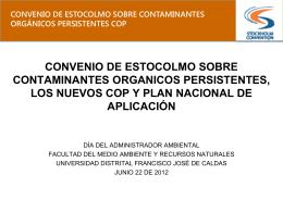 convenio de estocolmo sobre contaminantes organicos persistentes