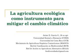 Cambio climático - Universidad de Costa Rica