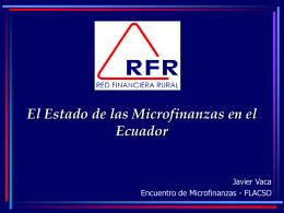 Las Microfinanzas en el Ecuador. Evolución y Crecimiento