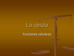 Las funciones celulares