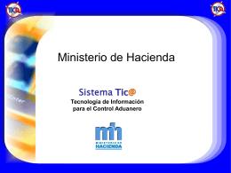 Diapositiva 1 - Ministerio de Hacienda